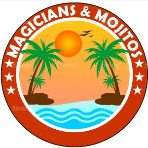 Beach logo - Magicians & Mojitos