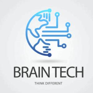 Futuristic logo - Braintech