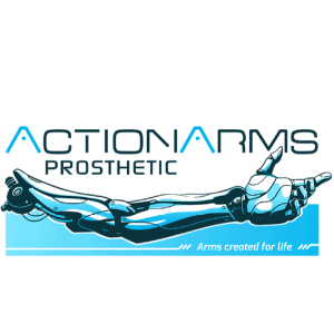 Futuristic logo - ActionArms Prosthetic