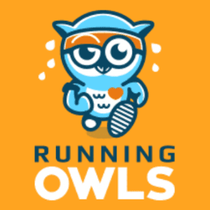 Mascot logo - Running Owls