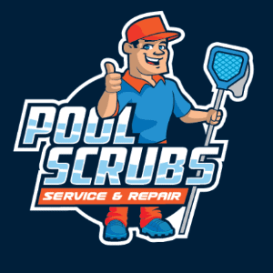 Mascot logo - Pool Scrubs service and repair