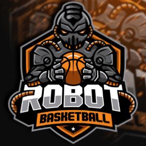 Mascot logo - Robot Basketball