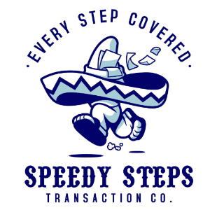 Mascot logo - Speedy Steps Transaction Co.