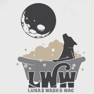 Mascot logo - LWW Luna's Wash & Wag