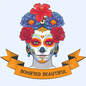 Skull logo - Boniefied Beautiful