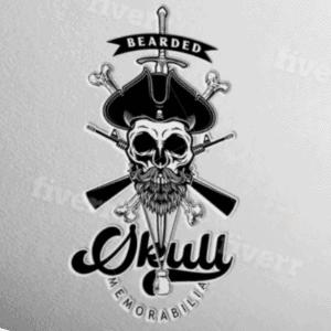 Skull logo - Bearded Skull