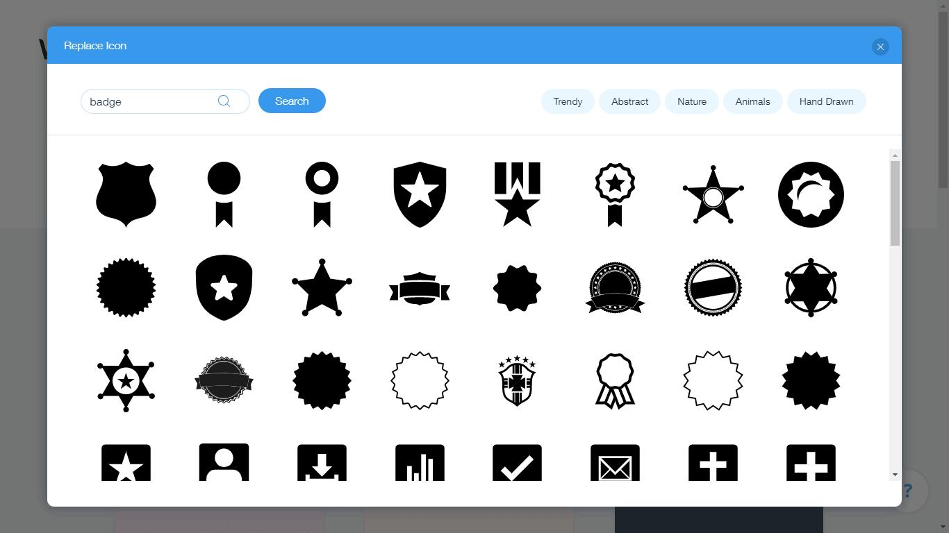 Wix Logo Maker screenshot - shield icons