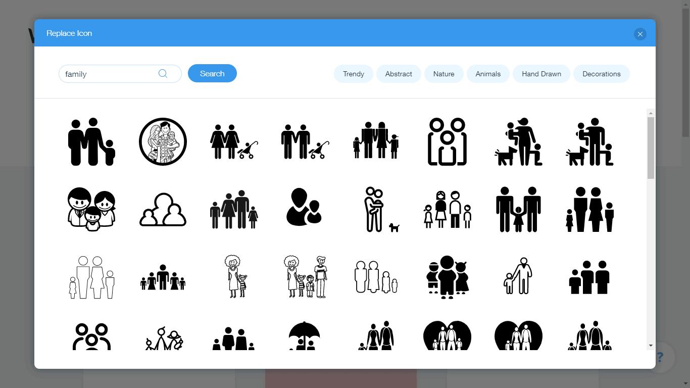 Wix Logo Maker screenshot - family icons