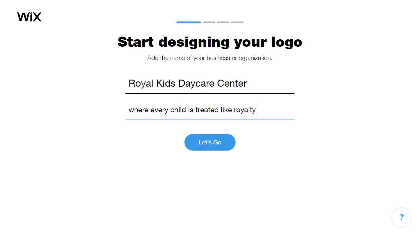 Wix Logo Maker screenshot - Add business name