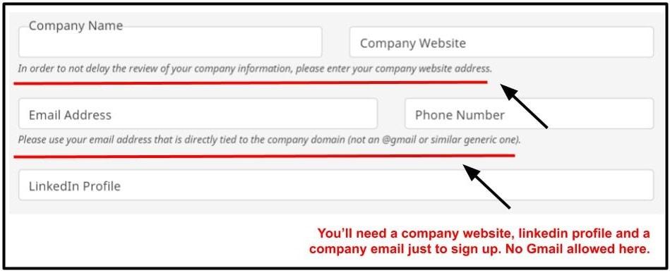 Flexjob employer signup form