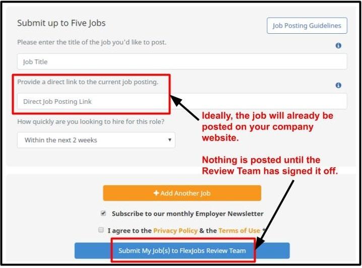 Free job posting form - Flexjobs