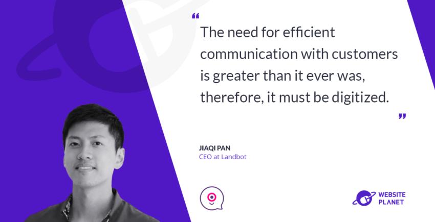 Interview with Jiaqi Pan, CEO at Landbot