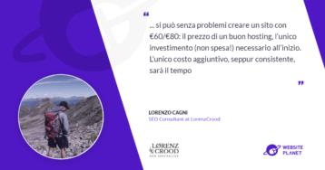 Il costo di un sito professionale – Intervista con Lorenz Crood