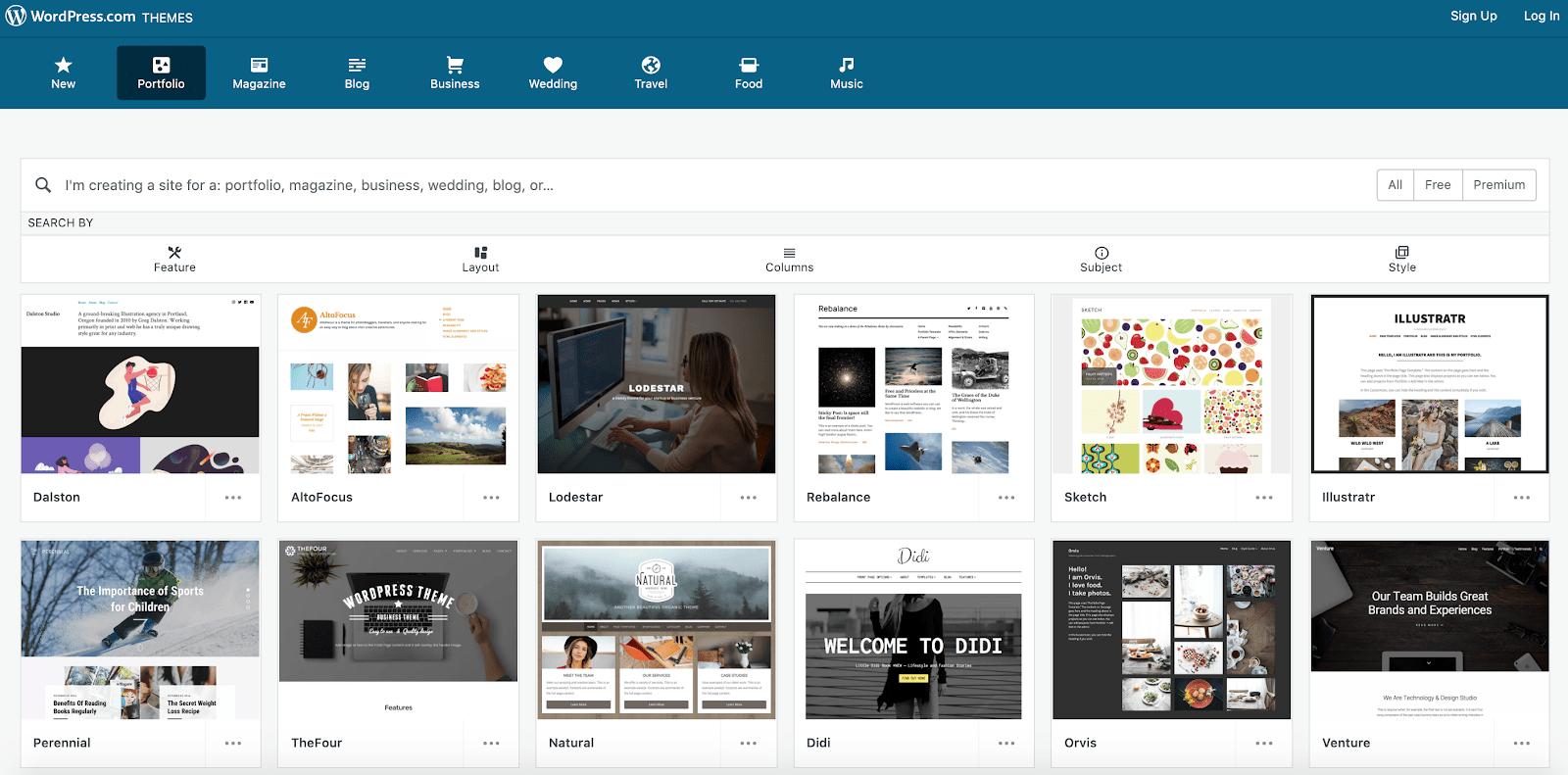WordPress.com - templates