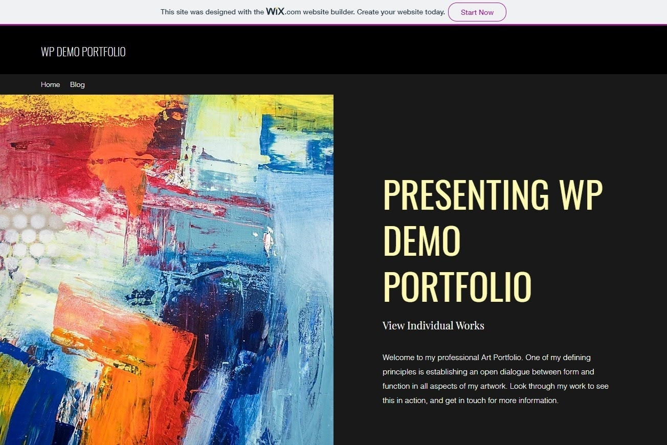 Wix - WP free demo site