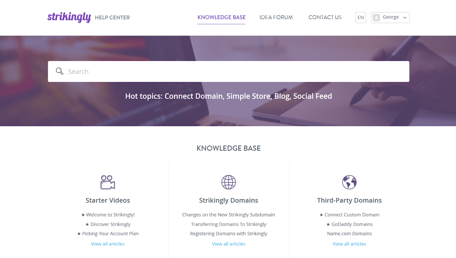 Strikingly - Knowledge Base