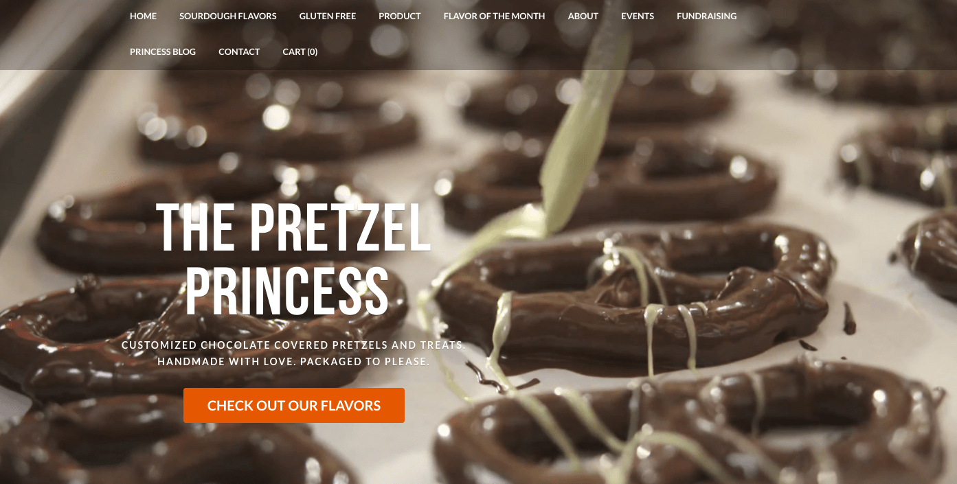 Weebly theme for bakeries