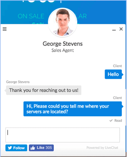 TMDHosting live chat support