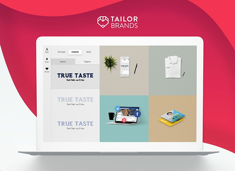 Tailor Brands' Unique Algorithm Creates Your Successful Brand