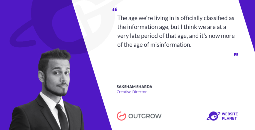 Interview with Outgrow Creative Director Saksham Sharda