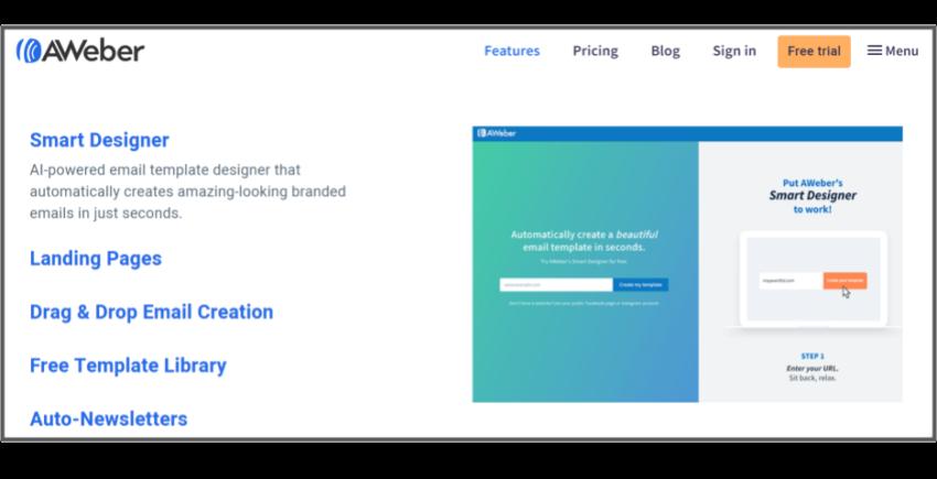 AWeber's smart email designer – best email marketing solutions