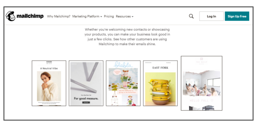 Mailchimp email templates – best email marketing solutions
