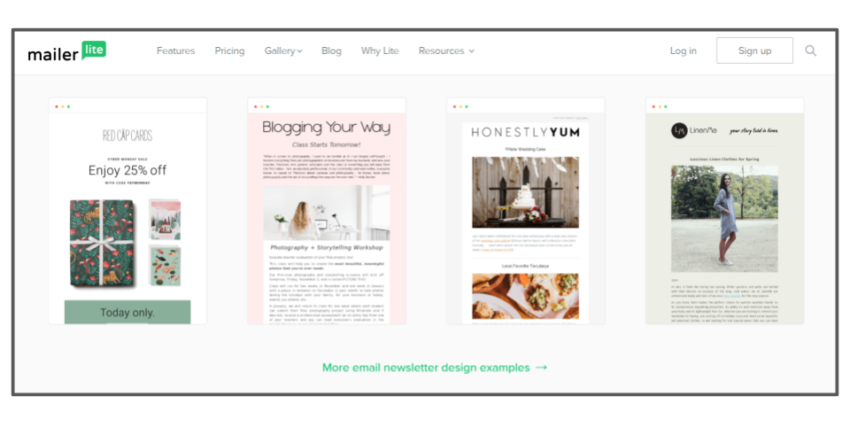 MailerLite email templates – best email marketing solutions
