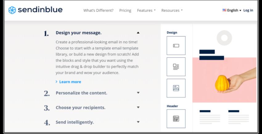 SendinBlue's email design process – best email marketing solutions