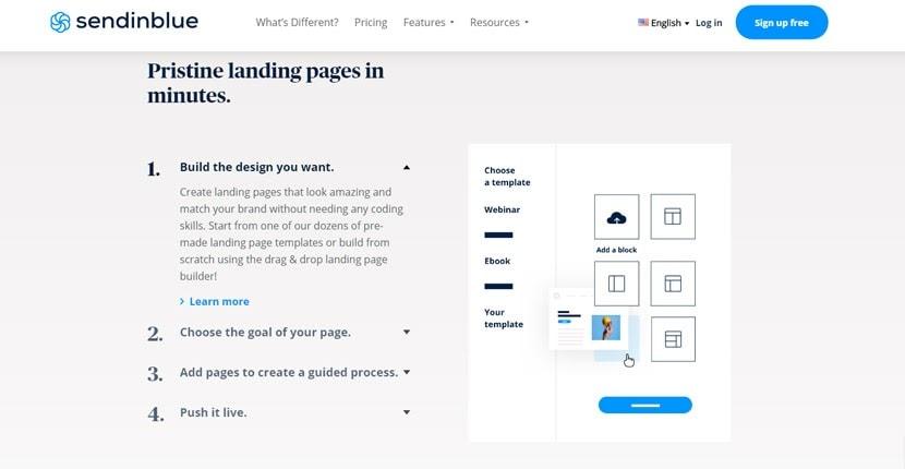 Sendinblue - Landing Page Builder Features