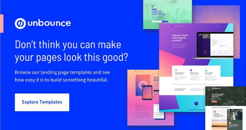 Unbounce - Landing Page Builder Templates