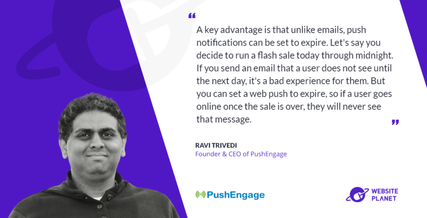 With PushEngage You Can Send Users Personalized and Contextual Notifications