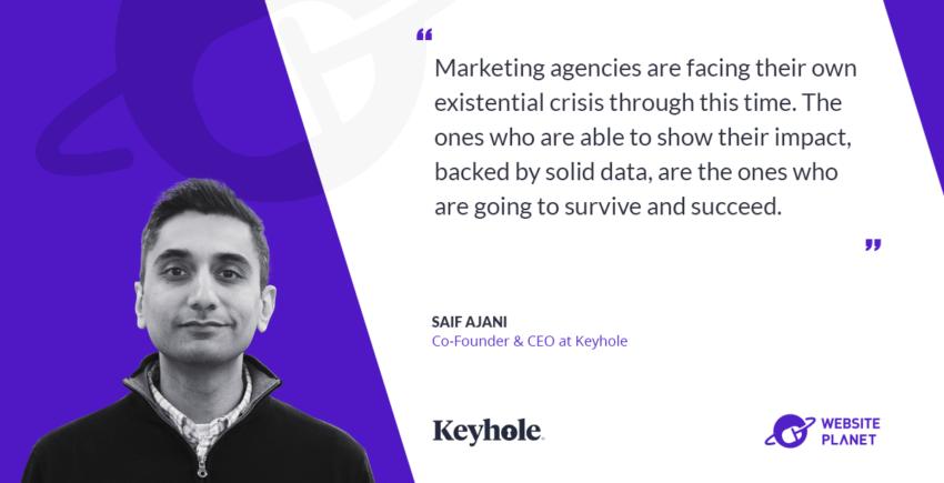 Interview with Keyhole CEO Saif Ajani