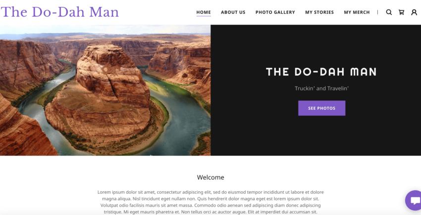 GoDaddy sample website