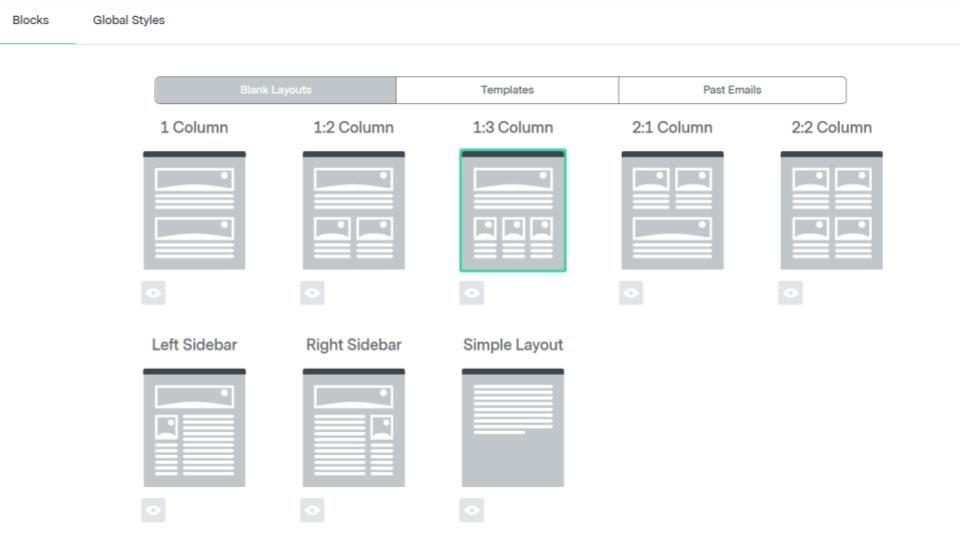 Benchmark – email builder