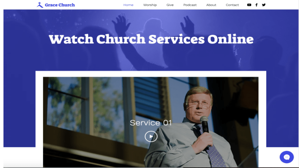 Wix's Online Church Template