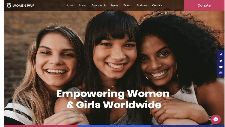 Wix's Women's Empowerment NGO Template