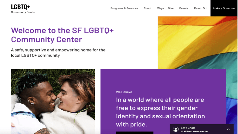 Wix's LGBTQ Community Center Template