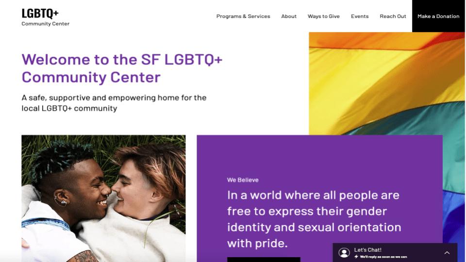 Wix's LGBTQ Community Center Template