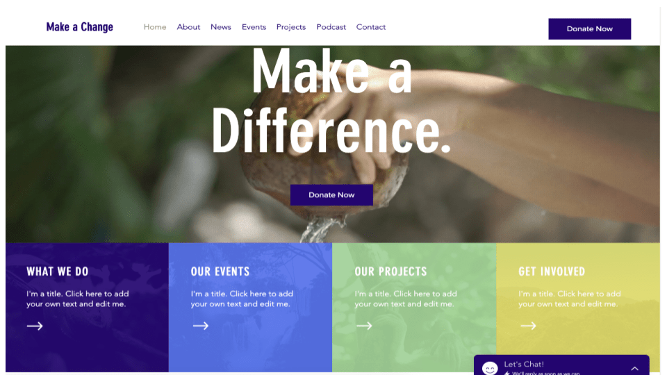 Wix's Environmental NGO Template