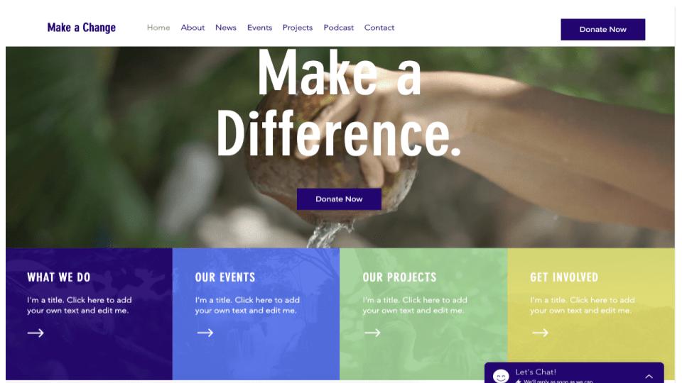 Wix's Environmental NGO Template