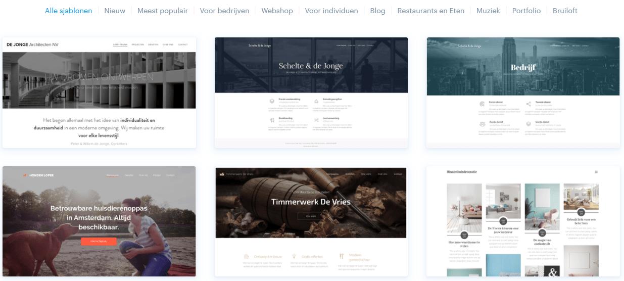 Webnode website templates