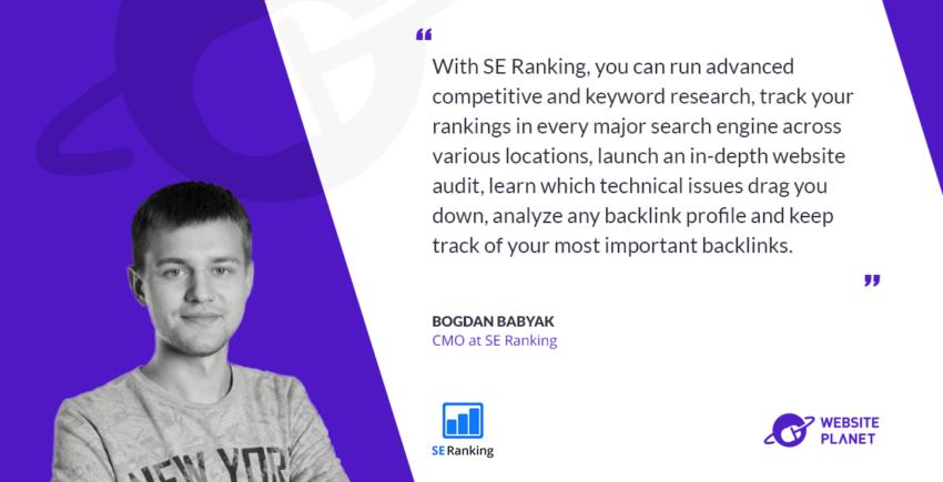 interview with Bogdan Babyak, SE ranking