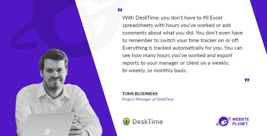 Interview with DeskTime project manager Toms Blodnieks