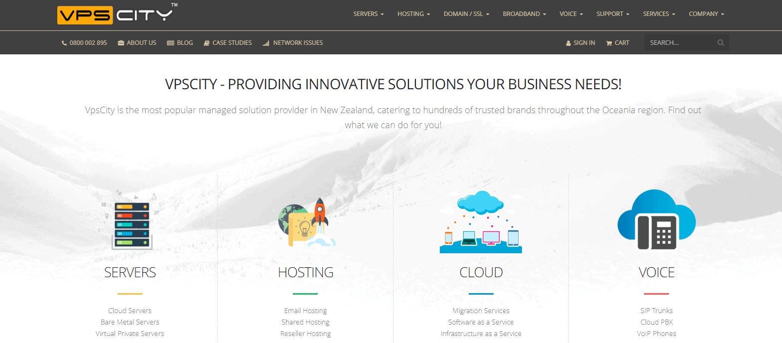 VPS City - Homepage