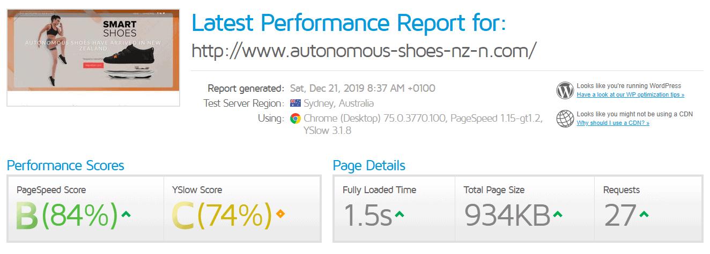 VPS City - GTMetrix test result