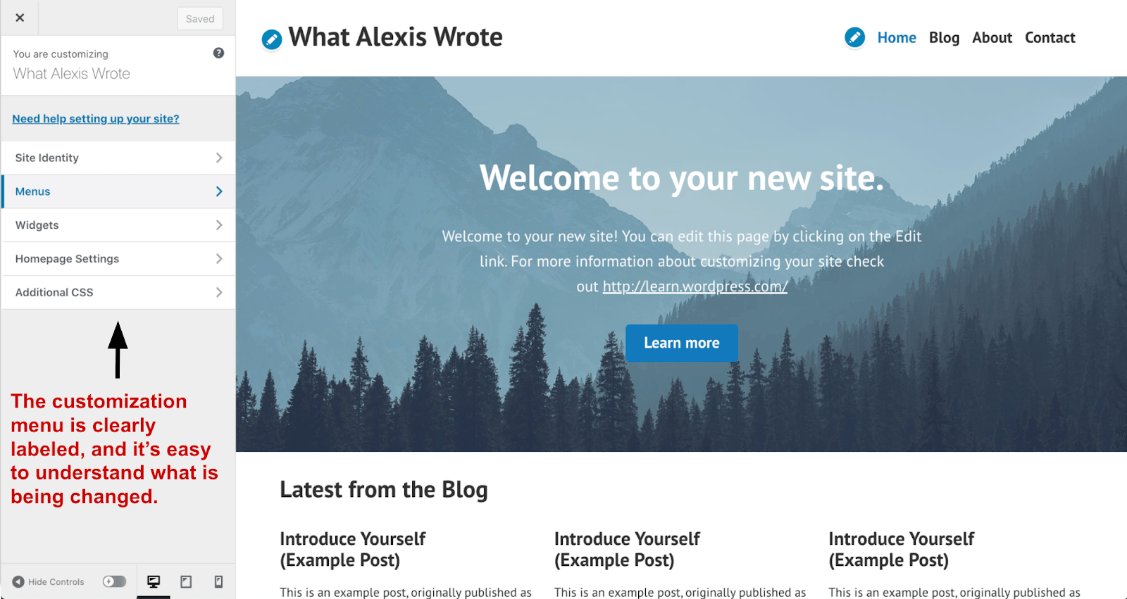 WordPress Site Editor Dashboard