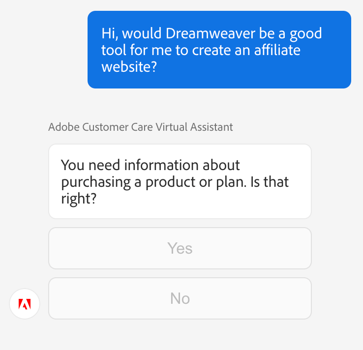 Adobe Customer Care Chat