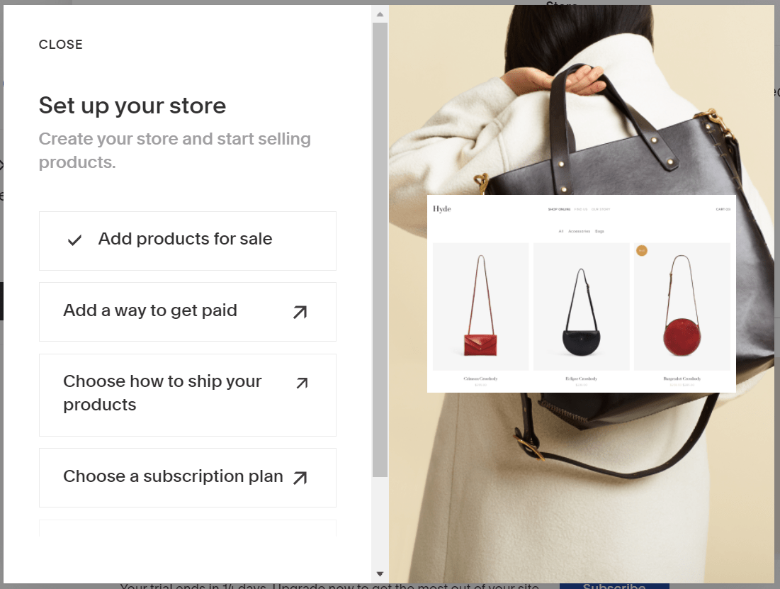 Creating Squarespace store