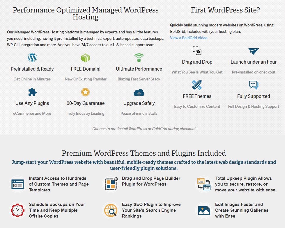 InMotion Hosting's WordPress-specific features