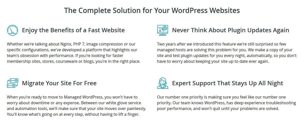 Liquid Web - managed WordPress features